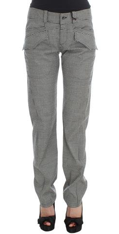 Ermanno Scervino Black White Checkered Cotton Casual Pants $285 AUD @ Azura Runway