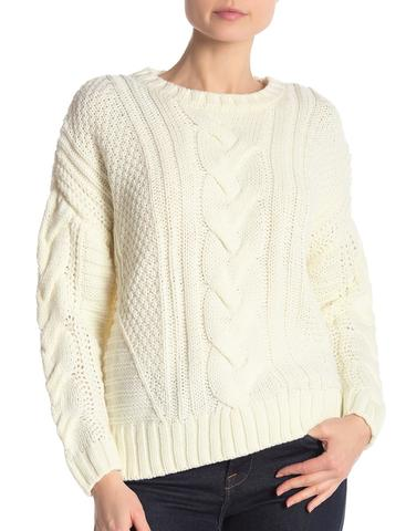 One A Women's Sweater White Ivory Size Small S Cable Knit Pullover $95 AUD @ Azura Runway