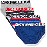 Bonds Boys Underwear Brief (4 Pack), Blue and Red, 8/10