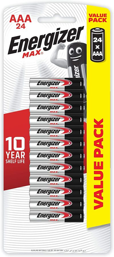 Energizer MAX AAA Alkaline Battery 24-Pack $12.50 ($11.25 with S&S) + FREE Delivery over $39 @ Amazon AU